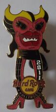 Hard Rock Cafe Pin Hollywood Monster Guitar No. 4 Pink Female Le 300