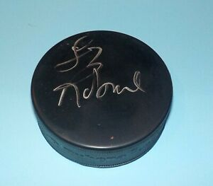 Larry Robinson Signed Autographed Puck Montreal Canadiens