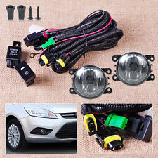 Wiring Harness Sockets + Switch + 2 H11 Fog Lights for Ford Focus Acura Nissan
