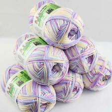 Sale Lot 6 ballsx50g Super Soft Bamboo Cotton Baby Hand Knitting Crochet Yarn 38
