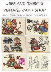 1970 Donruss Odder Odd Rods Sticker Cards YOU PICK FROM SCANS