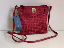 NEW! TOMMY HILFIGER RED CROSSBODY SLING MESSENGER BAG PURSE $69 SALE