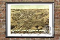 Vintage Pontiac, MI Map 1867 - Historic Michigan Art - Old Victorian Industrial