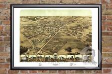 Vintage Pontiac, MI Map 1867 - Historic Michigan Art - Old Victorian Industrial