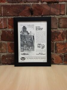 Framed Original Vintage Ad from Yachting World, August 1954