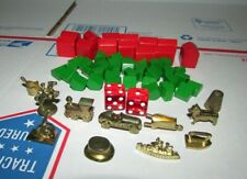 Deluxe Anniversary Edition Monopoly Playing Pieces Gold Tokens & Wood Hotels