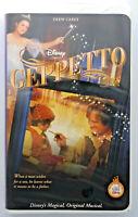 Disney's Pinocchio's Geppetto VHS video tape  Walt Disney 2000 musical