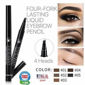 Microblading Tattoo Eyebrow Ink Pen Long Lasting 3D Fork Waterproof Pencil Brow