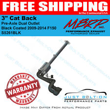 """MBRP 2009-2014 F150 3"""" Cat Back Pre-Axle Dual Outlet Black Coated #S5261BLK"""