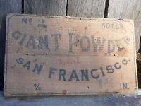 Giant powder co san francisco no.2 50lbs piece of CA goldrush history