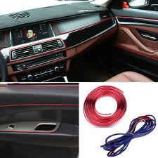 Molding Accessory Edge Gap Line Universal Car Interior Garnish 5M Point red