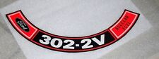 Ford or Mustang 302  2V Ford Engine Air Cleaner Decal  #182