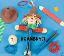 """7"""" Wooden Scarecrow Worry Doll Kids & Adults Craft Kit Ages 5+ No More Worries!"""