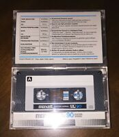 ONE (1) used vintage Maxell UL 90 min Tape for Cassette deck European