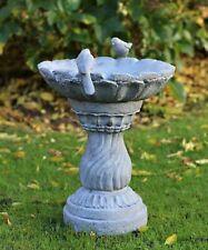 More details for slate grey bird bath bowl outdoor ornamental garden water weatherproof