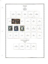 FRANCE COLLECTION ON STAMPALBUM PAGES CV$3992.65