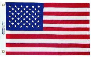 "16""x24"" American Flag USA BOAT FLAG Sewn Embroidered Stars Sewn Stripes USA Made"