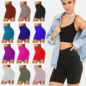 WOMENS CYCLING SHORTS BIKE SHORTS ACTIVE GYM SHORTS LEGGINGS STRETCH FIT 8 - 20