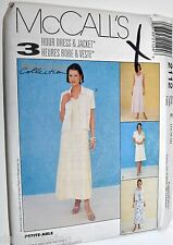 McCall's Sewing Pattern # 2112, 3-Hr Dress 2 Lengths and Jacket Size 14, 16, 18