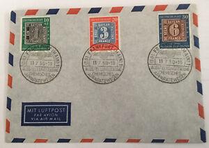 Brief, Bund, Sonderst. Ausst. Chem. Apparatewesen 1950, Mi-Nr. 113-5