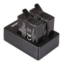 Dual Ladegerät + 2x Akku für GoPro Hero 8 7 6 5 Go Pro AHDBT-801 AHDBT-701 501