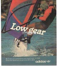 1983 ADIDAS Sneakers Footwear Windsurfer Vtg Print Ad