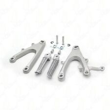 For Yamaha YZF R1 YZF-R1 2004 2005 2006 Silver Front Rider Foot Pegs Bracket