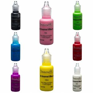 3D ENAMEL EFFECTS PAINTS DOVECRAFT. 3 FOR 2 OFFER IN 8 COLOURS