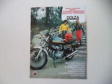 advertising Pubblicità 1975 MOTO GUZZI 400 GTS
