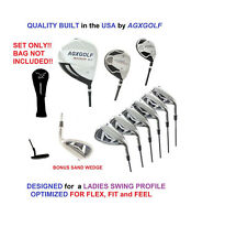 AGXGOLF PETITE LADIES XS ALL GRAPHITE GOLF SET w460 DRIVER, HYBRID, IRONS+PUTTER