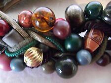 Carolyn Tanner Belt Earth Tone Beads Boho Design Adjustable Hook & Loop Vintage