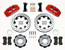 "Wilwood Dynapro 6 Front Hat Kit 12.19"" Drilled Red for Ford Fiesta #140-11899-DR"