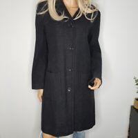 J. Crew Vintage Wool Blend Coat Jacket Button Front Womens Petite Size S Black
