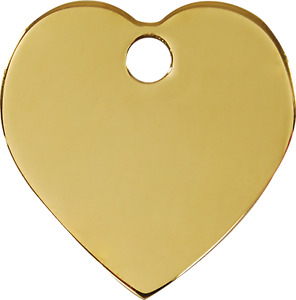 "Red Dingo Brass ""Heart"" Pet Cat & Dog ID Tag- Free Engraving"
