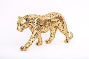 41.5cm Large Gold Leopard Glitter Effect Ornament