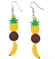 Tropical Fruit Earrings - Fun Rubber Jewelery  - Fun Party Favor
