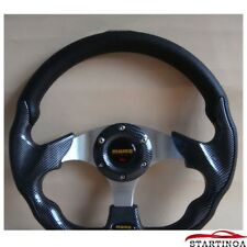 """Universal 320mm Car Auto Racing Steering Wheel Leather Aluminum Frame 13"""" New"""