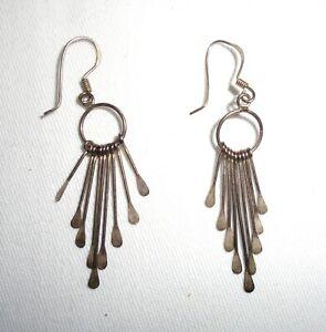 Pair of 925 Silver Dangly Earrings