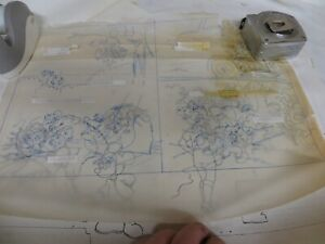 Disney Mickey Mouse Original Draft Drawings Several Pages - VERY RARE!!!