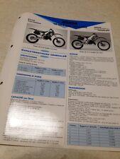 Honda CR125R CR125 R CR 125 JE01 92/93 Fiche technique moto RMT ETAI