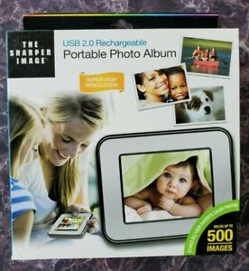 The Sharper Image USB 2.0 Rechargeable Portable Photo Album OPEN BOX (See Pics)