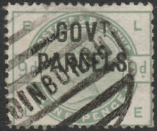 1886 SGO63  9d DULL GREEN GOV'T PARCELS OFFICIAL GOOD USED HINGED CAT £1200 (LE)