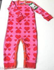 Einteiler Herz Gr.86 Green Cotton NEU m.E 100% Baumwolle bio pink Overall baby