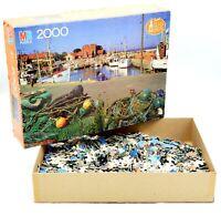 Vintage Milton Bradley Super Big Ben Bornholm Denmark 2000 PC Jigsaw Puzzle 1985