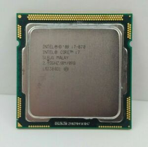 Intel Core i7-870 (SLBJG) 2.93GHz LGA1156 Desktop CPU Processor
