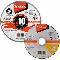 Makita Ultra Thin Metal Cutting Disc 125mm Pack of 10