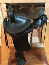 "15"" TN Saddlery Gaited Western ""Trail Rider"" Saddle  Black"
