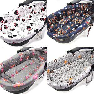 Baby Pram Pushchair Buggy Soft Cotton Insert with Mattress for Gondola Carrycot