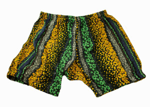Floral Printed Yoga Shorts For Women - Pune Style Soft & Comfy (NAVY-YELLOW)