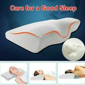 For Neck Pain Support Slow Rebound Memory Foam Pillow Cervical Contour Sale NEW